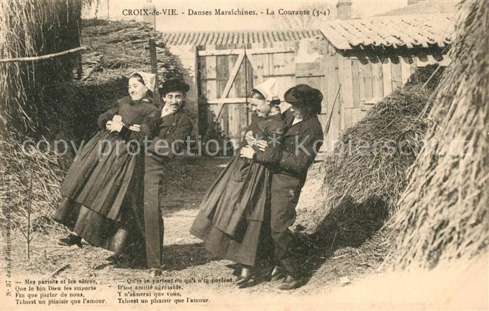 AK / Ansichtskarte Croix_de_Vie_Vendee Danses Maraichines La Couraute Croix_de_Vie_Vendee