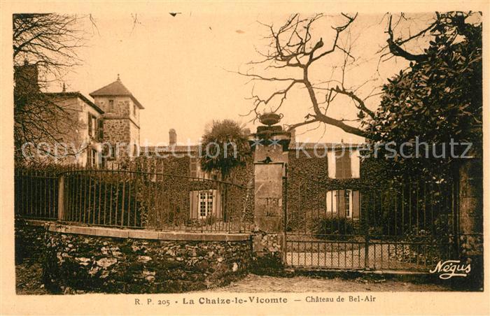 AK / Ansichtskarte La_Chaize le Vicomte Chateau de Bel Air La_Chaize le Vicomte 0