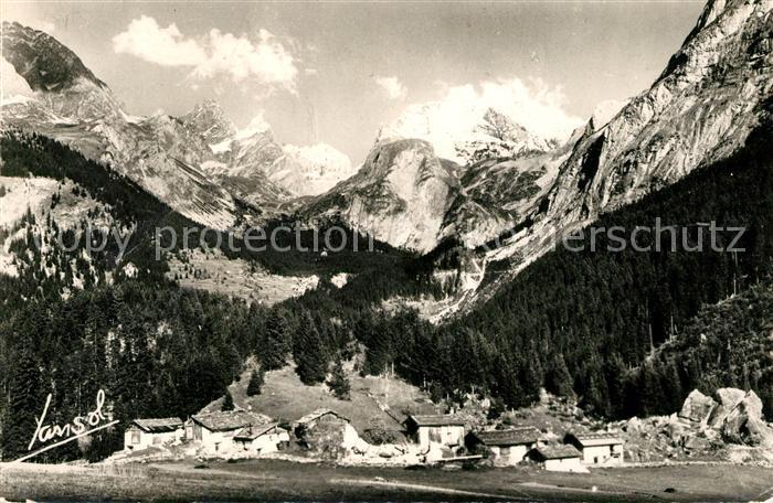 AK / Ansichtskarte Pralognan la Vanoise Village de Cholliere et le Massif de la Vanoise Alpes Pralognan la Vanoise