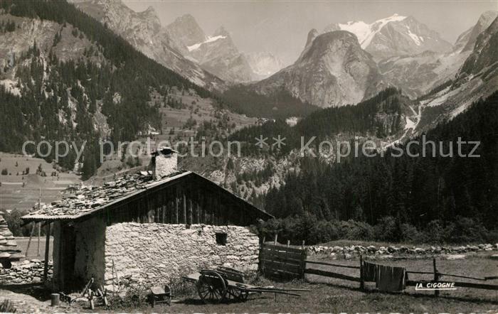 Pralognan la Vanoise Vieux Chalet et Massif de la Vanoise Alpes Pralognan la Vanoise
