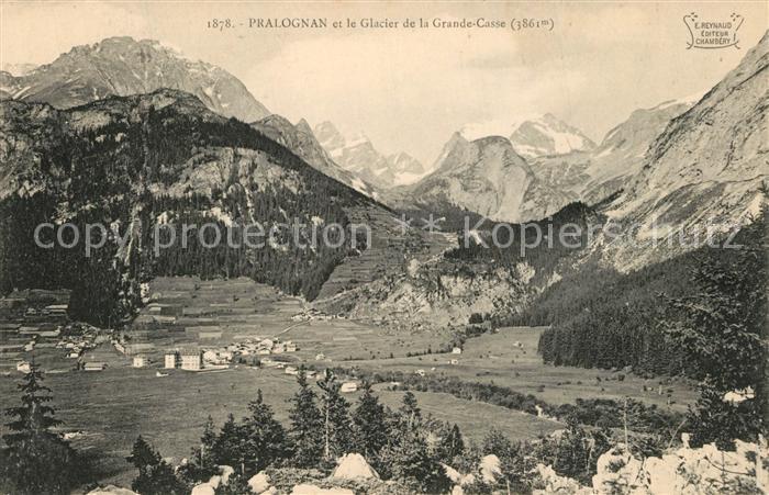 Pralognan la Vanoise Panorama Glacier de la Grande Casse Alpes Francaises Pralognan la Vanoise