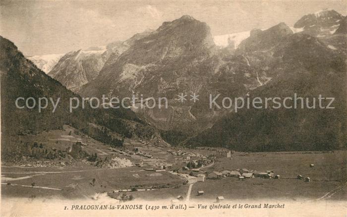Pralognan la Vanoise Vue generale et le Grand Marchet Alpes Francaises Pralognan la Vanoise