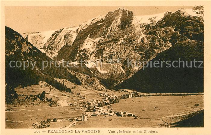 Pralognan la Vanoise Vue generale et les Glaciers Alpes Francaises Pralognan la Vanoise