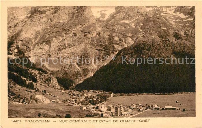 Pralognan la Vanoise Vue generale et Dome de Chasseforet Alpes Francaises Pralognan la Vanoise