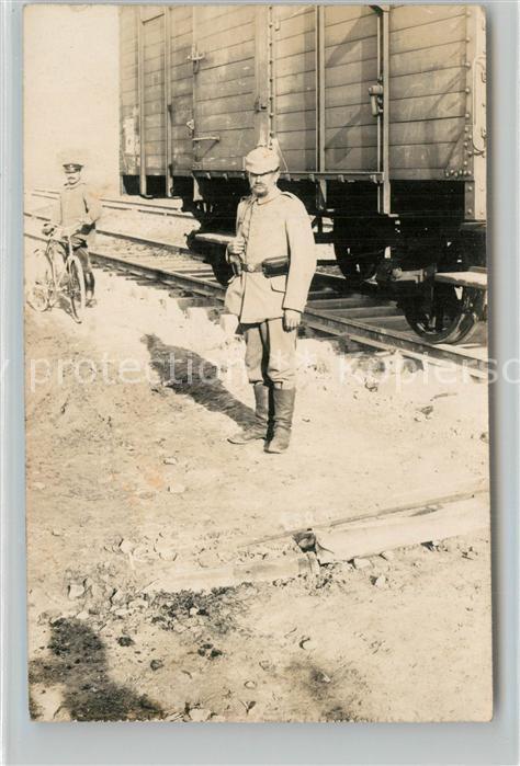 Vigneulles les Hattonchatel Soldat auf Wache am Bahnhof Vigneulles les Hattonchatel