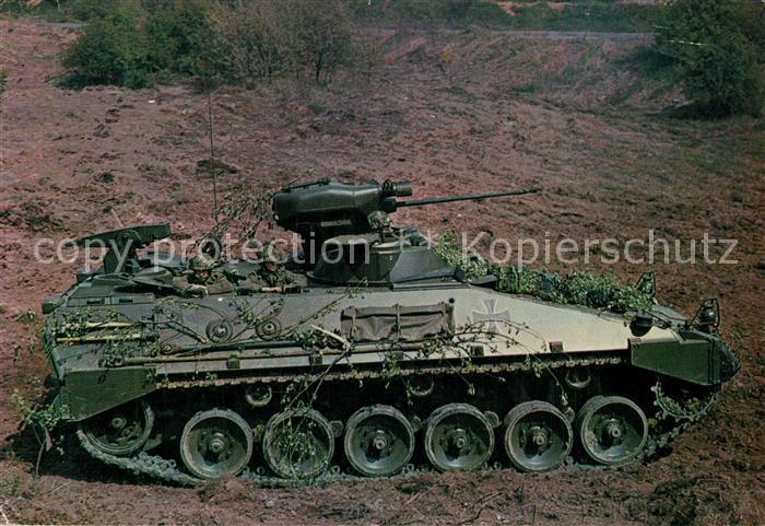 AK / Ansichtskarte Militaria_Panzer Sch?tzenpanzer Marder Deutsche Bundeswehr  Militaria Panzer