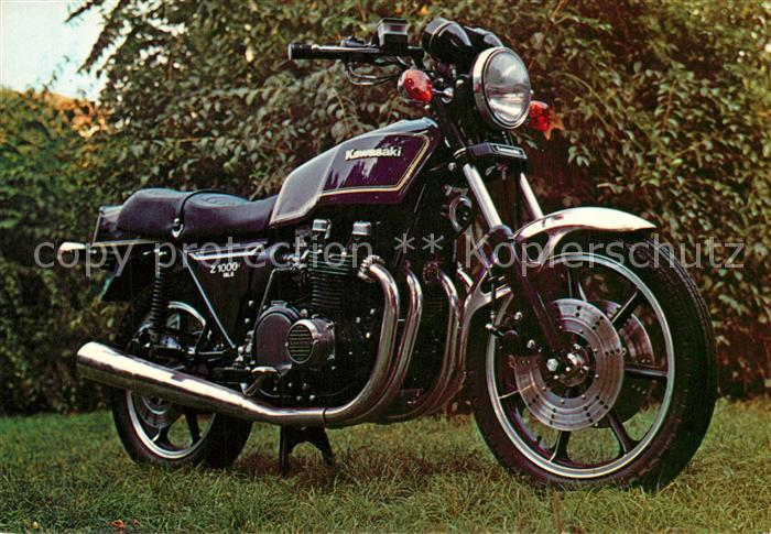 AK / Ansichtskarte Motorrad Kawasaki Z 1000