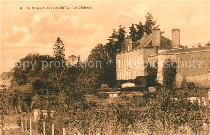 AK / Ansichtskarte La_Chaize le Vicomte Le Chateau La_Chaize le Vicomte