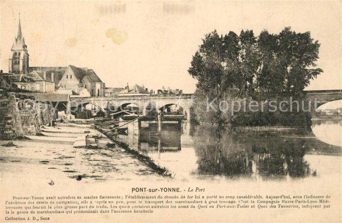 AK / Ansichtskarte Pont sur Yonne Le Port Pont sur Yonne