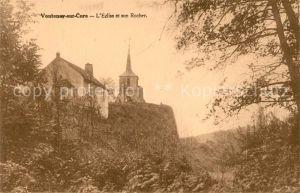 AK / Ansichtskarte Voutenay sur Cure Eglise et son Rocher Voutenay sur Cure