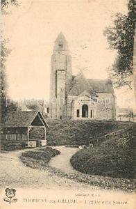 AK / Ansichtskarte Thorigny sur Oreuse Eglise et la Source Thorigny sur Oreuse
