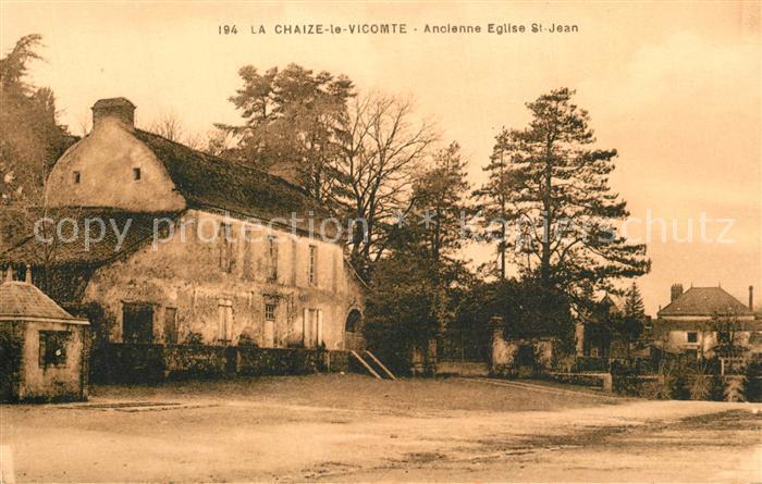 AK / Ansichtskarte La_Chaize le Vicomte Ancienne Eglise Saint Jean La_Chaize le Vicomte