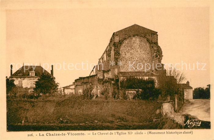 AK / Ansichtskarte La_Chaize le Vicomte Le Chevet de l Eglise La_Chaize le Vicomte