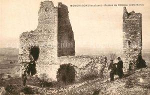 AK / Ansichtskarte Mondragon Ruines du Chateau Cote Nord Mondragon