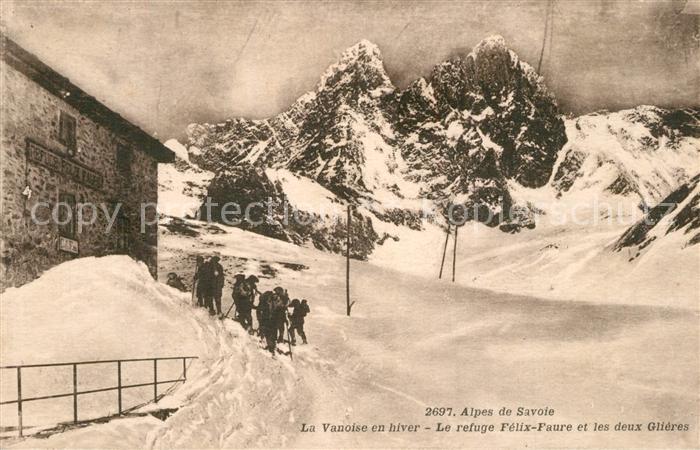 AK / Ansichtskarte Pralognan la Vanoise Refuge Felix Faure en hiver Alpes Francaises Pralognan la Vanoise