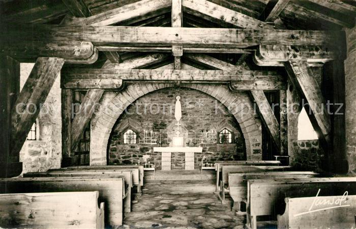 AK / Ansichtskarte Col_de_l_Iseran Interieur de la Chapelle Notre Dame de Toute Prudence Col_de_l_Iseran