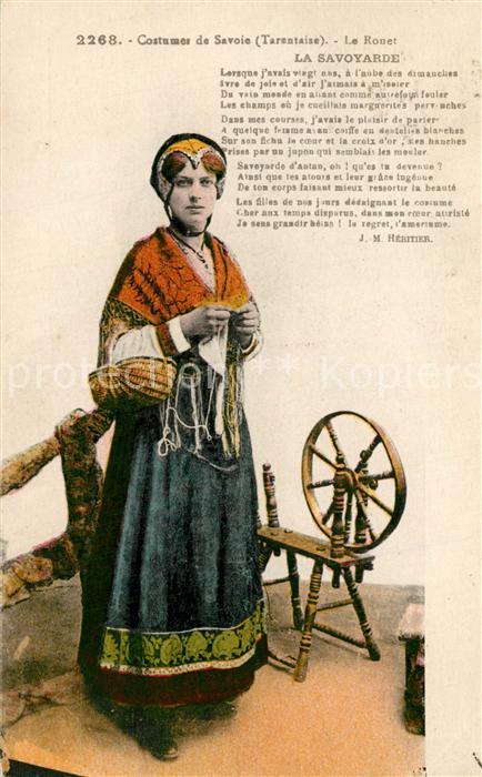 AK / Ansichtskarte Trachten_Frankreich Costumes de Savoie Tarentaise