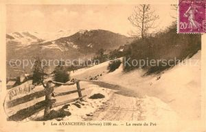 AK / Ansichtskarte Les_Avanchers Valmorel Panorama Route du Pre en hiver Alpes Les_Avanchers Valmorel