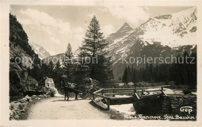 AK / Ansichtskarte Nancroix_Peisey Pont Alpes Nancroix Peisey
