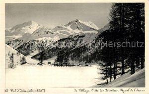 AK / Ansichtskarte Val_d_Isere Panorama village et les Alpes en hiver Val_d_Isere