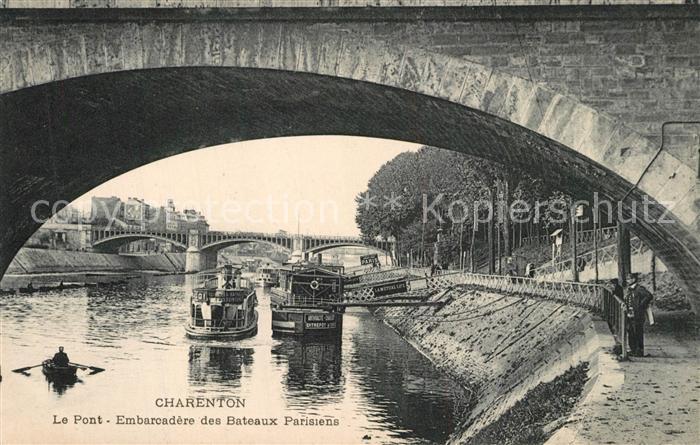 AK / Ansichtskarte Charenton le Pont Le Pont Embarcadere des Bateaux Parisiens Charenton le Pont