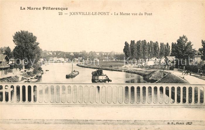 AK / Ansichtskarte Joinville le Pont La Marne vue du Pont Joinville le Pont