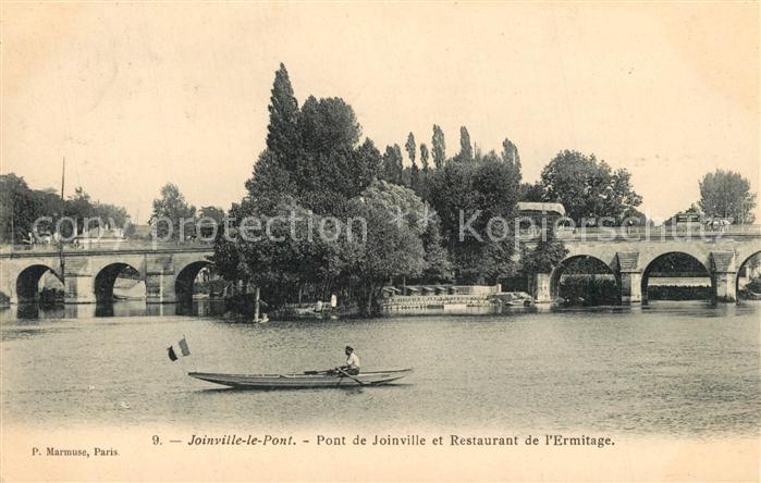 AK / Ansichtskarte Joinville le Pont Pont de Joinville et Restaurant de l Ermitage Joinville le Pont
