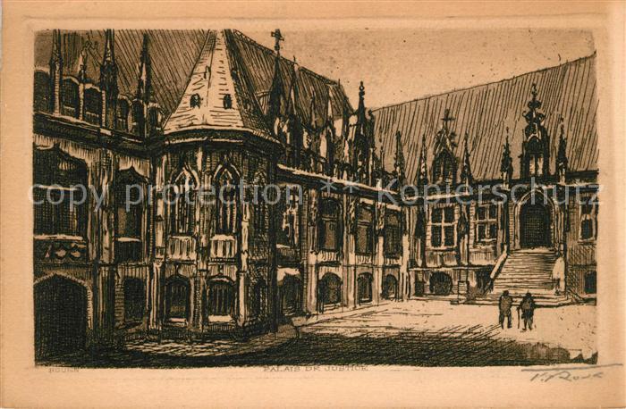 AK / Ansichtskarte Rouen Palais de Justice K?nstlerkart Rouen