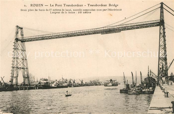 AK / Ansichtskarte Rouen Pont Transbordeur Rouen