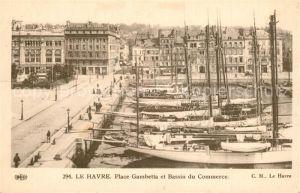 AK / Ansichtskarte Le_Havre Place Gambette et Bassin du Commerce Le_Havre