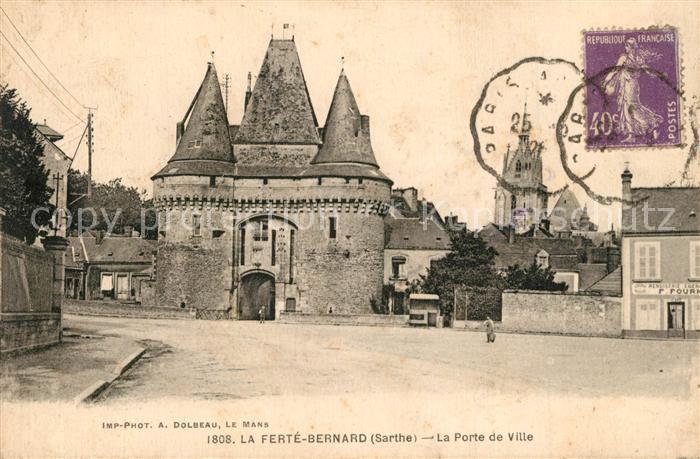 AK / Ansichtskarte La_Ferte Bernard Port de Ville La_Ferte Bernard