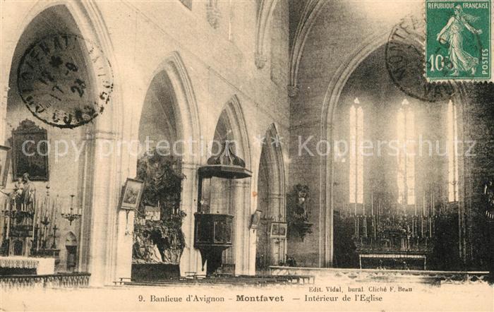 AK / Ansichtskarte Montfavet_Avignon Interieur de l Eglise