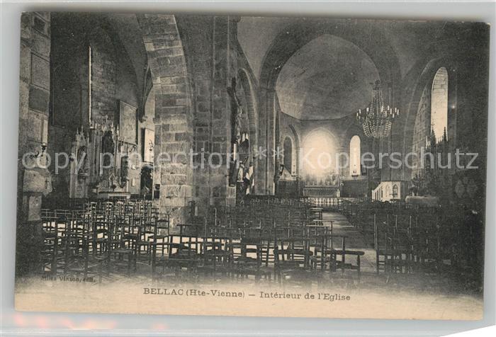 AK / Ansichtskarte Bellac Interieur de l Eglise Bellac