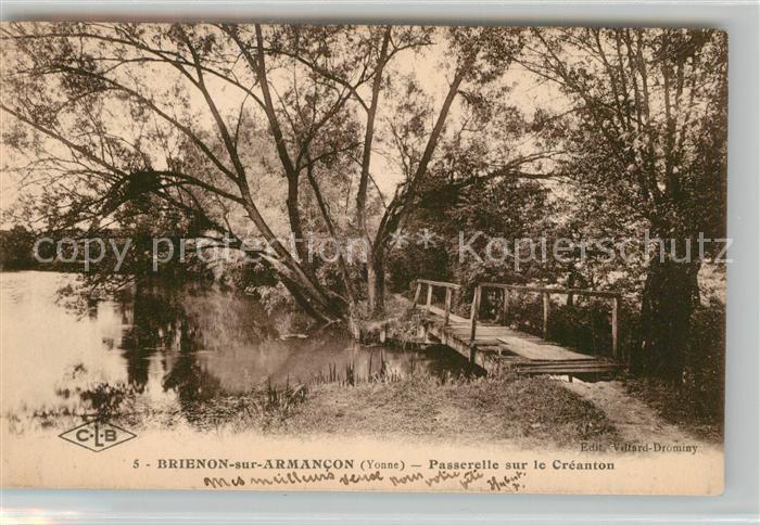 AK / Ansichtskarte Brienon sur Armancon_Bourgogne Passerelle sur le Creanton Brienon sur Armancon
