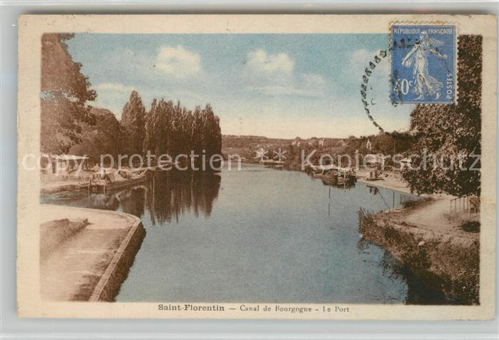 AK / Ansichtskarte Saint Florentin_Yonne Canal de Bourgogne Le Port Saint Florentin Yonne