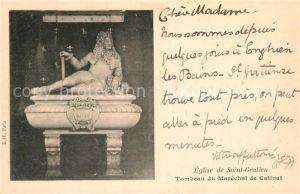 AK / Ansichtskarte Saint Gratien_Oise Eglise Tombeau du Marechal de Catinat Saint Gratien Oise