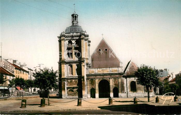 AK / Ansichtskarte Pontoise_Val d_Oise Eglise Notre Dame Place Notre Dame