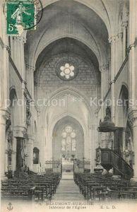 AK / Ansichtskarte Beaumont sur Oise Interieur de l Eglise Beaumont sur Oise