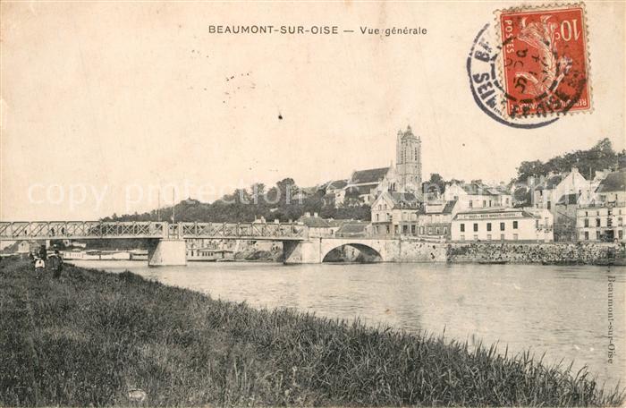 AK / Ansichtskarte Beaumont sur Oise Aux bords de la riviere Pont Cathedrale Beaumont sur Oise