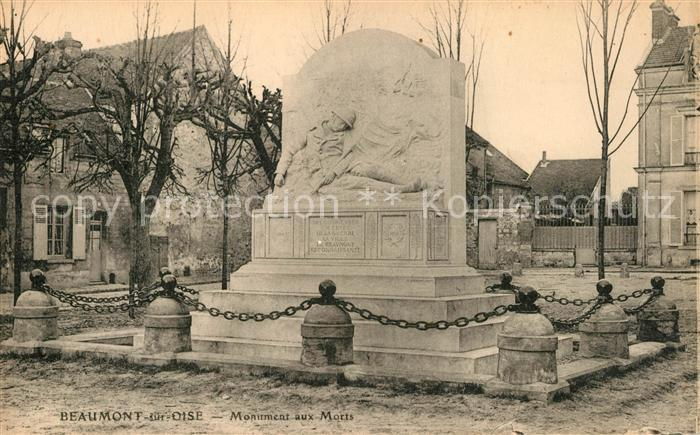 AK / Ansichtskarte Beaumont sur Oise Monument aux Morts Kriegerdenkmal Beaumont sur Oise