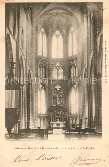 AK / Ansichtskarte Saint Sulpice de Favieres Interieur de l Eglise Saint Sulpice de Favieres