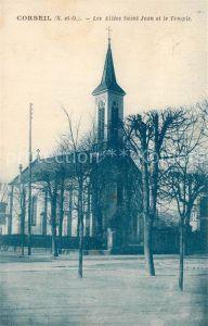 AK / Ansichtskarte Corbeil Essonnes Les Allees Saint Jean et le Temple Corbeil Essonnes