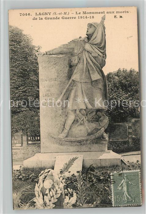AK / Ansichtskarte Lagny sur Marne Le Monument aux morts de la Grande Guerre 1914 18 Lagny sur Marne