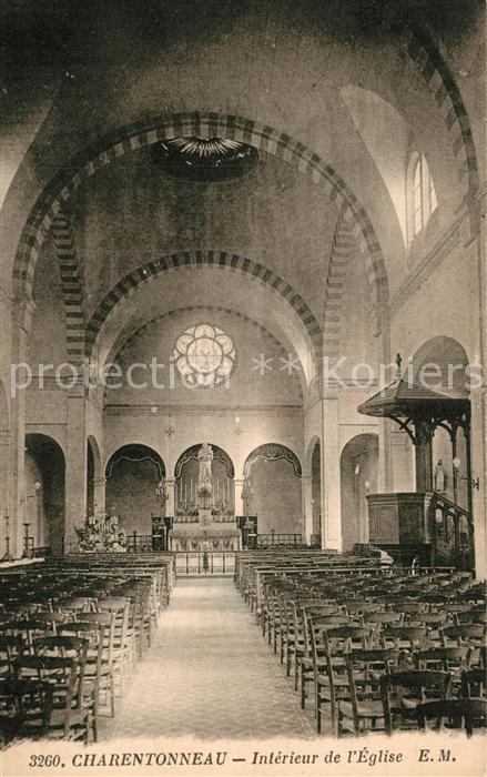 AK / Ansichtskarte Charentonneau Interieur de l Eglise