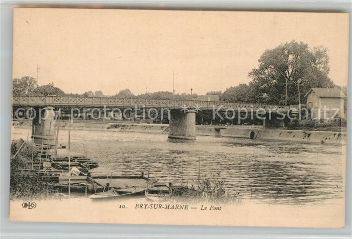 AK / Ansichtskarte Bry sur Marne Bords de la Marne Pont Bry sur Marne
