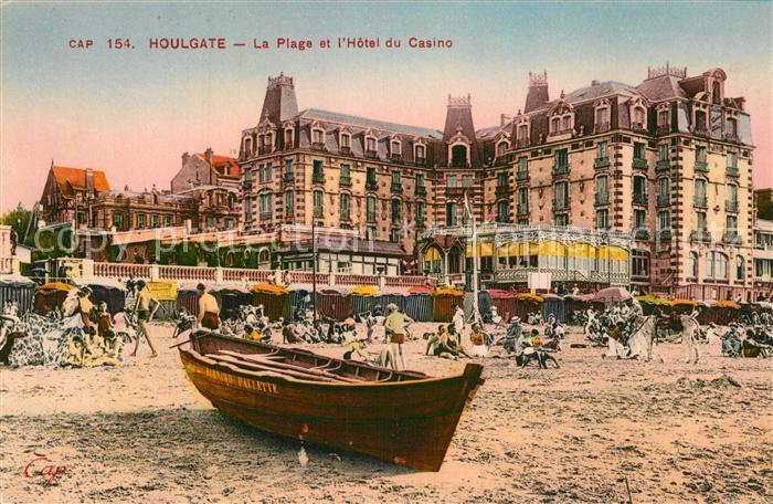 AK / Ansichtskarte Houlgate Strand Hotel du Casino Ruderboot Promenade Houlgate