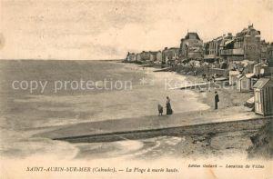 AK / Ansichtskarte Saint Aubin sur Mer_Calvados Strand Promenade Saint Aubin sur Mer