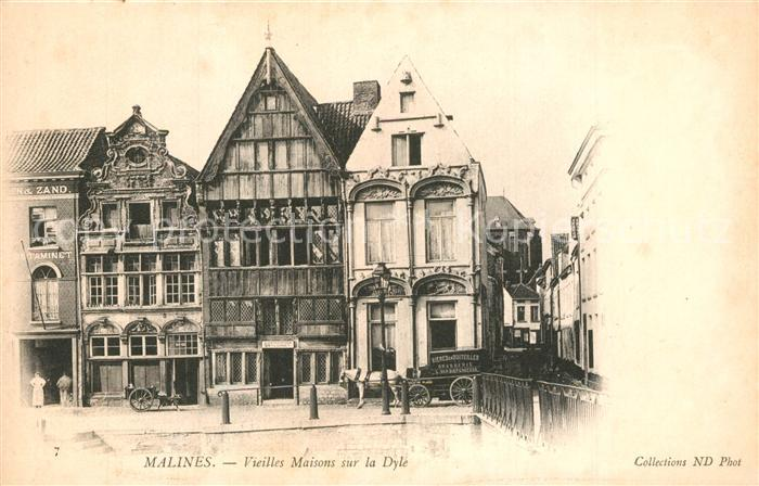 AK / Ansichtskarte Malines_Mechelen_Flandre Vieilles Maisons sur la Dyle Malines_Mechelen_Flandre