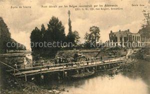 AK / Ansichtskarte Lierre Forts de Lierre Pont detruit par les Belges reconstruit par les Allemands Lierre