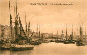 AK / Ansichtskarte Blankenberghe Le Port des Bateaux de peche Blankenberghe